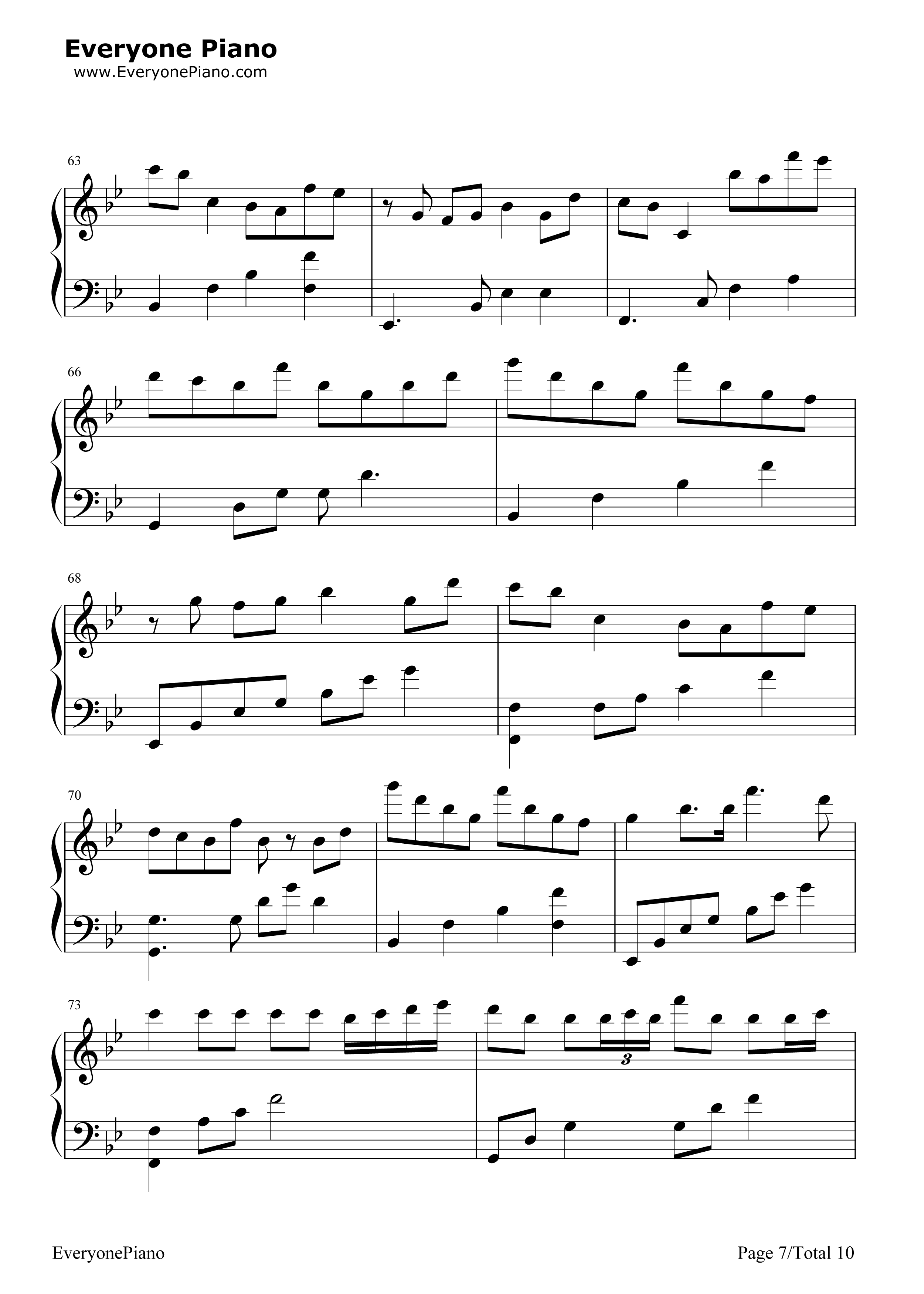 Scary Monsters and Nice Sprites-Skrillex Stave Preview 7-Free Piano Sheet Music u0026 Piano Chords