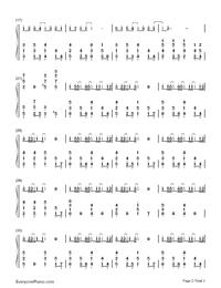 変わらないもの-時をかける少女挿入歌両手略譜プレビュー2