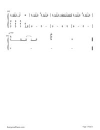 変わらないもの-時をかける少女挿入歌両手略譜プレビュー3