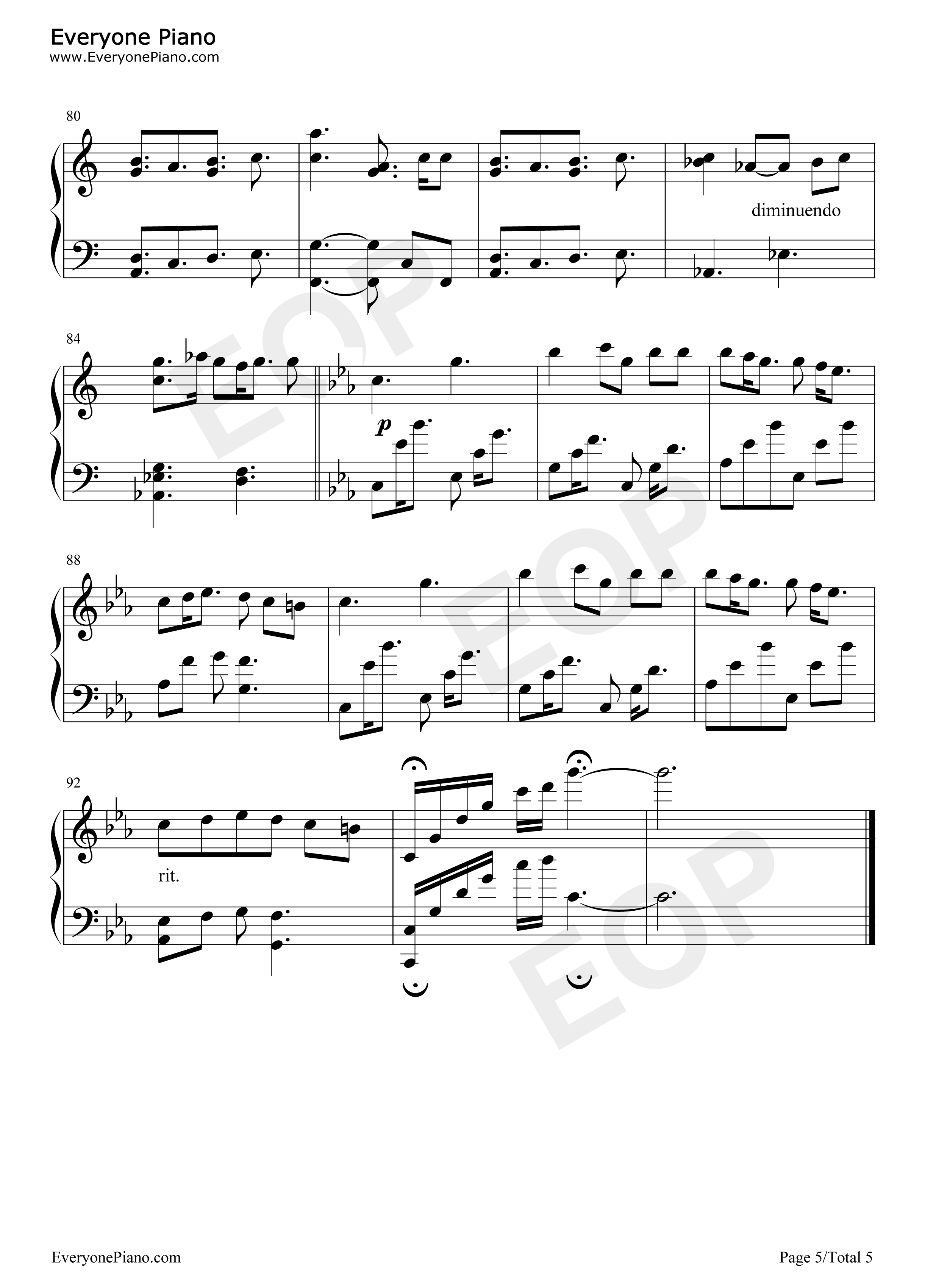 Only hope sheet music download free in PDF or MIDI