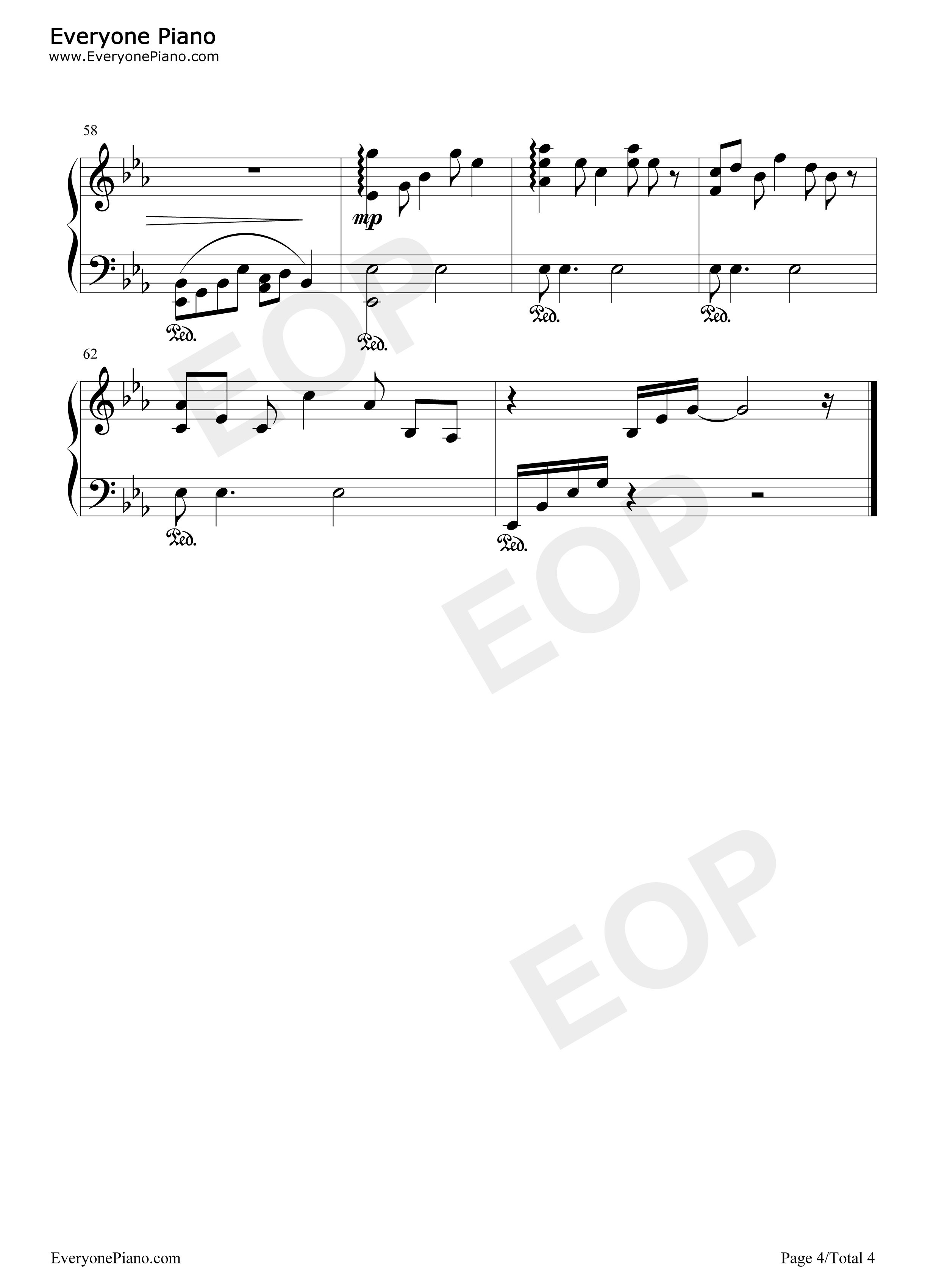 Your Song-Elton John Stave Preview 4-Free Piano Sheet Music u0026 Piano Chords