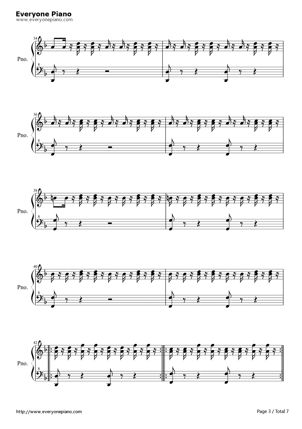 I am the doctor doctor who 11th theme free piano sheet music i am the doctor doctor who 11th theme stave preview 3 hexwebz Gallery