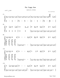 The Foggy Dew-Bandari-Numbered-Musical-Notation-Preview-1