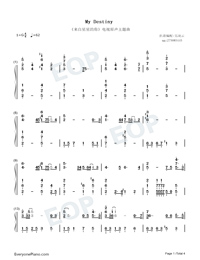 My Destiny-My Love from the Star ED Numbered Musical Notation Preview 1