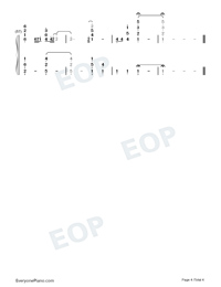 My Destiny-My Love from the Star ED Numbered Musical Notation Preview 4