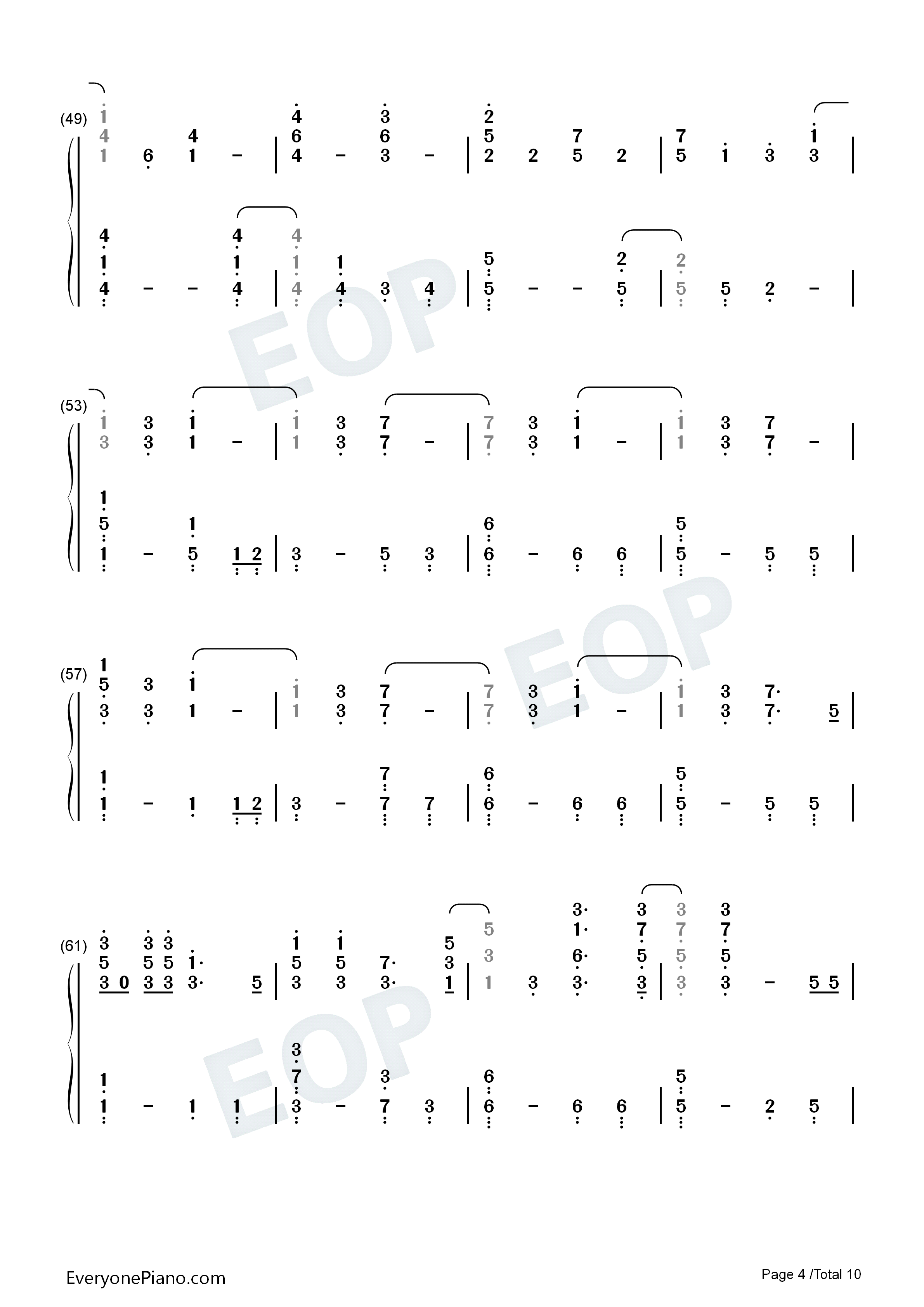 Fix you coldplay numbered musical notation preview 4 free piano listen now print sheet fix you coldplay numbered musical notation preview 4 hexwebz Images