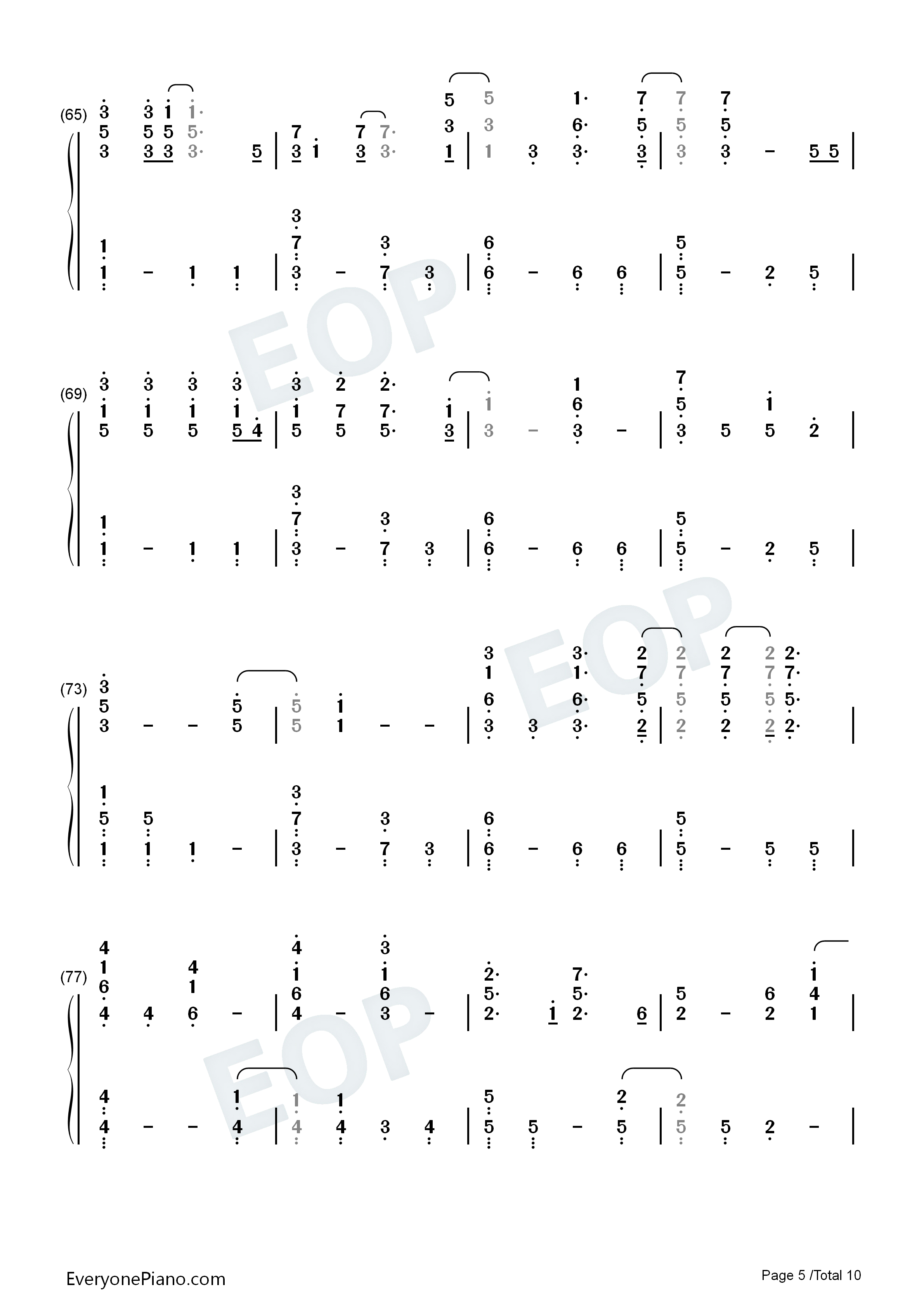 Fix you coldplay numbered musical notation preview 5 free piano listen now print sheet fix you coldplay numbered musical notation preview 5 hexwebz Images