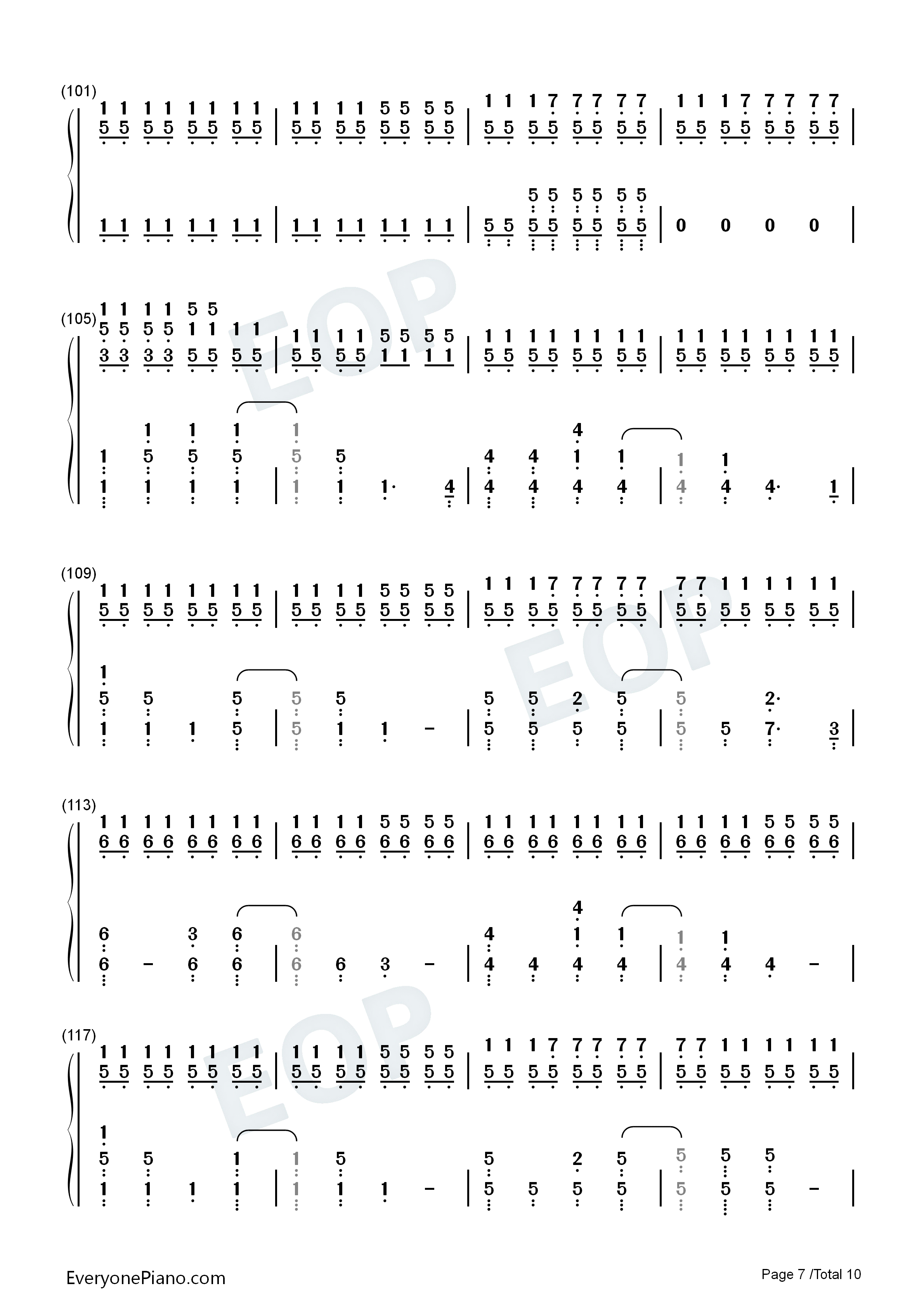 Fix you coldplay numbered musical notation preview 7 free piano listen now print sheet fix you coldplay numbered musical notation preview 7 hexwebz Images