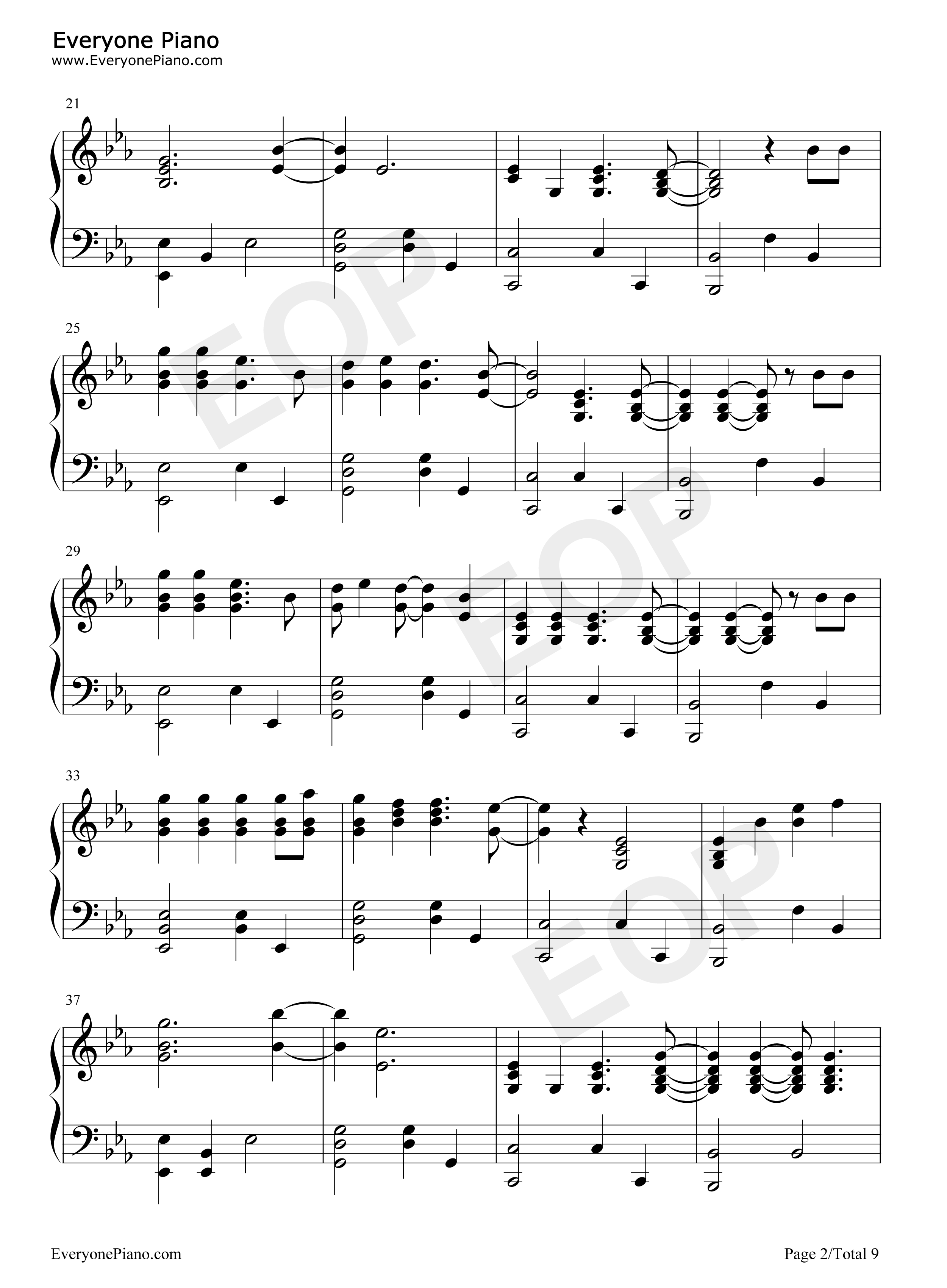 Fix you coldplay stave preview 2 free piano sheet music piano listen now print sheet fix you coldplay stave preview 2 hexwebz Images
