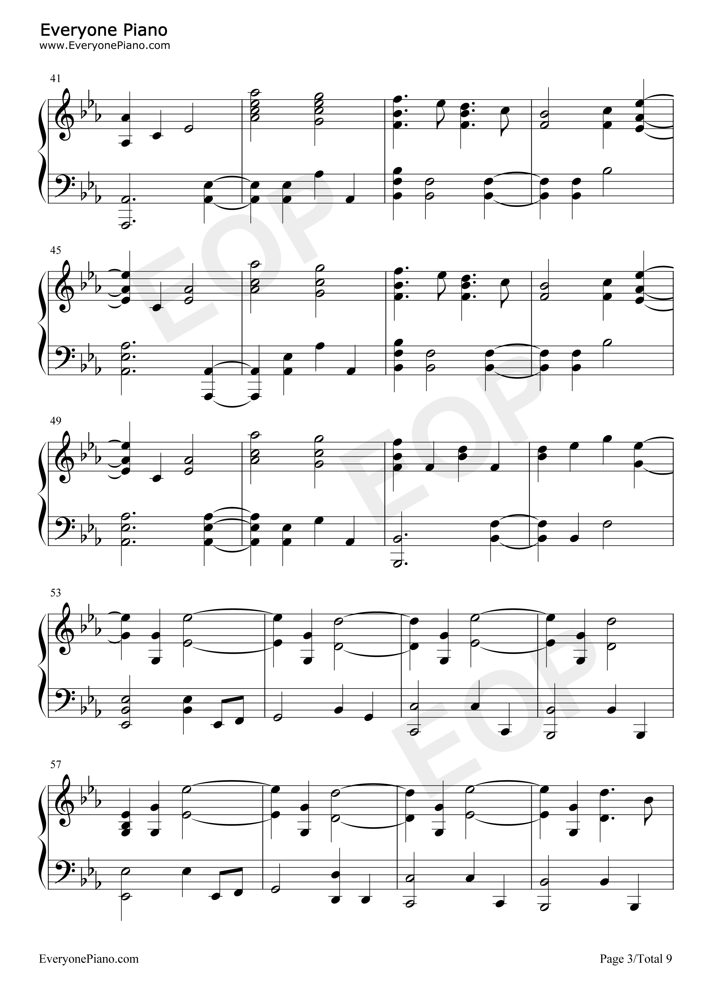 Fix you coldplay stave preview 3 free piano sheet music piano listen now print sheet fix you coldplay stave preview 3 hexwebz Images