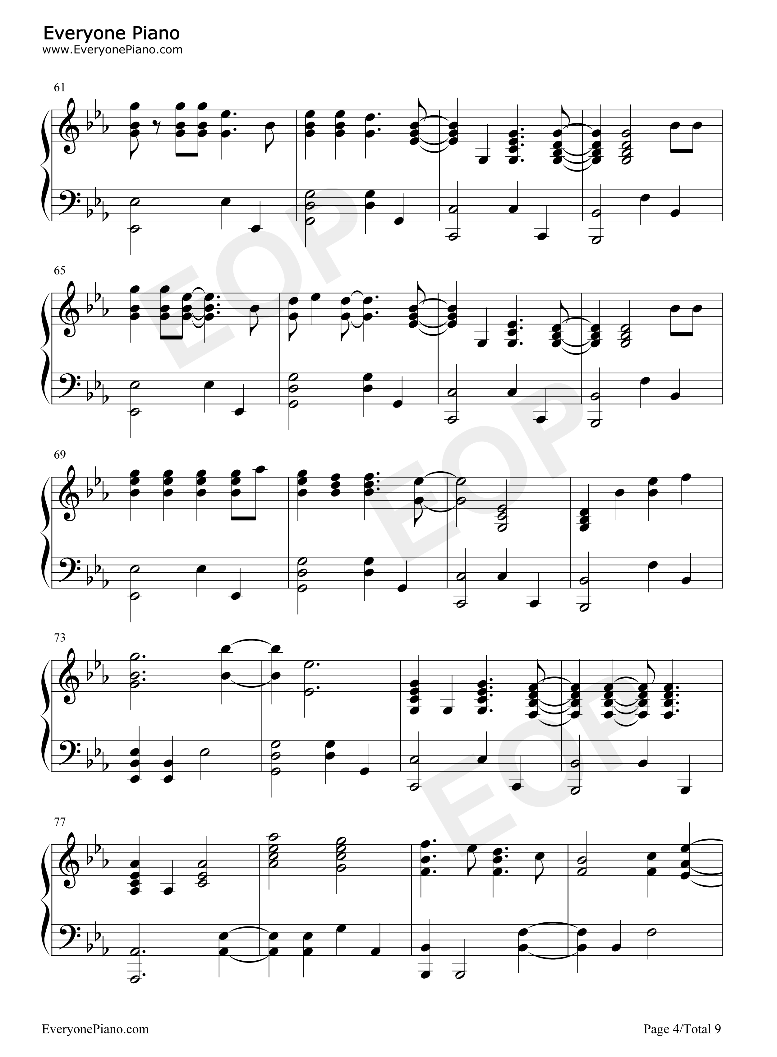 Fix you coldplay stave preview 4 free piano sheet music piano listen now print sheet fix you coldplay stave preview 4 hexwebz Images