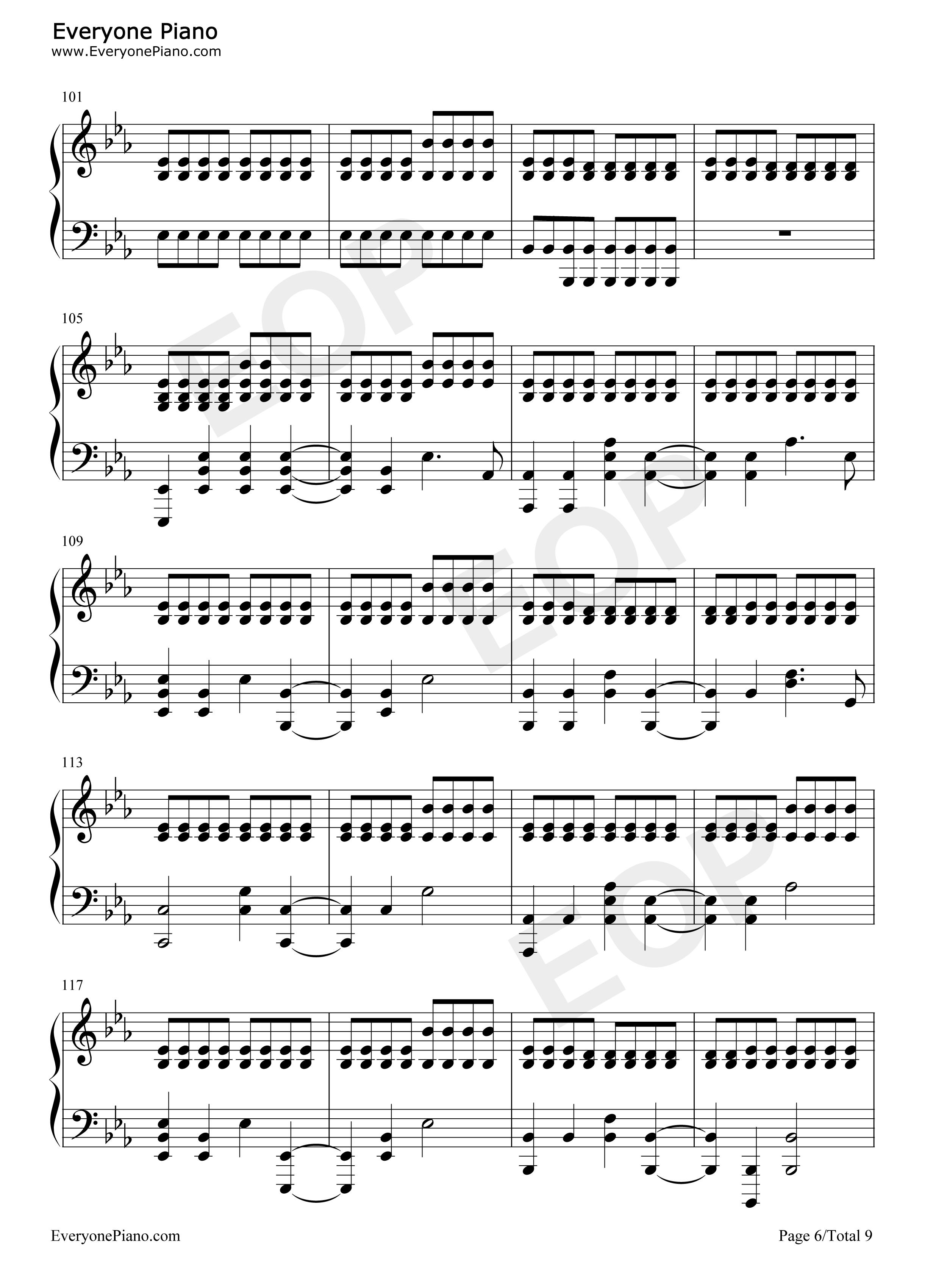 Fix You Coldplay Free Piano Sheet Music Piano Chords