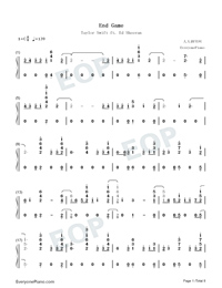 End Game-Taylor Swift-Numbered-Musical-Notation-Preview-1