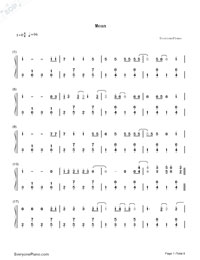 Mean-Taylor Swift-Numbered-Musical-Notation-Preview-1