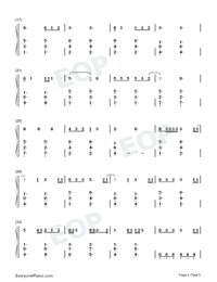 Give Me Love-Ed Sheeran Numbered Musical Notation Preview 2