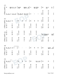 Give Me Love-Ed Sheeran Numbered Musical Notation Preview 3