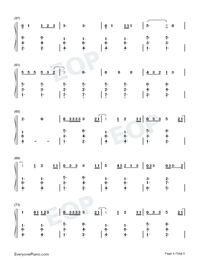 Give Me Love-Ed Sheeran Numbered Musical Notation Preview 4