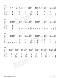 Give Me Love-Ed Sheeran Numbered Musical Notation Preview 5