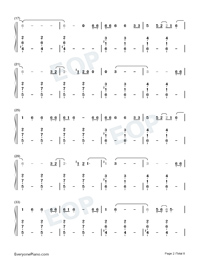 Empire-Shakira-Numbered-Musical-Notation-Preview-2