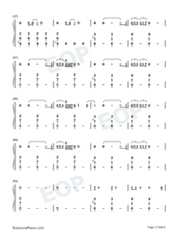 Empire-Shakira-Numbered-Musical-Notation-Preview-3