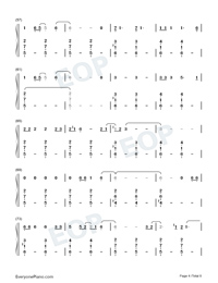 Empire-Shakira-Numbered-Musical-Notation-Preview-4