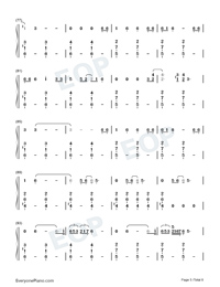 Empire-Shakira-Numbered-Musical-Notation-Preview-5