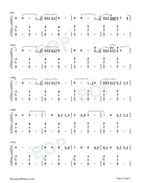 Empire-Shakira-Numbered-Musical-Notation-Preview-6