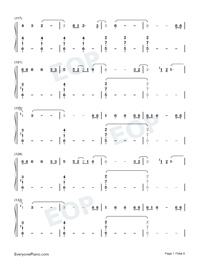 Empire-Shakira-Numbered-Musical-Notation-Preview-7
