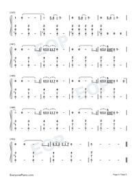 Empire-Shakira-Numbered-Musical-Notation-Preview-8