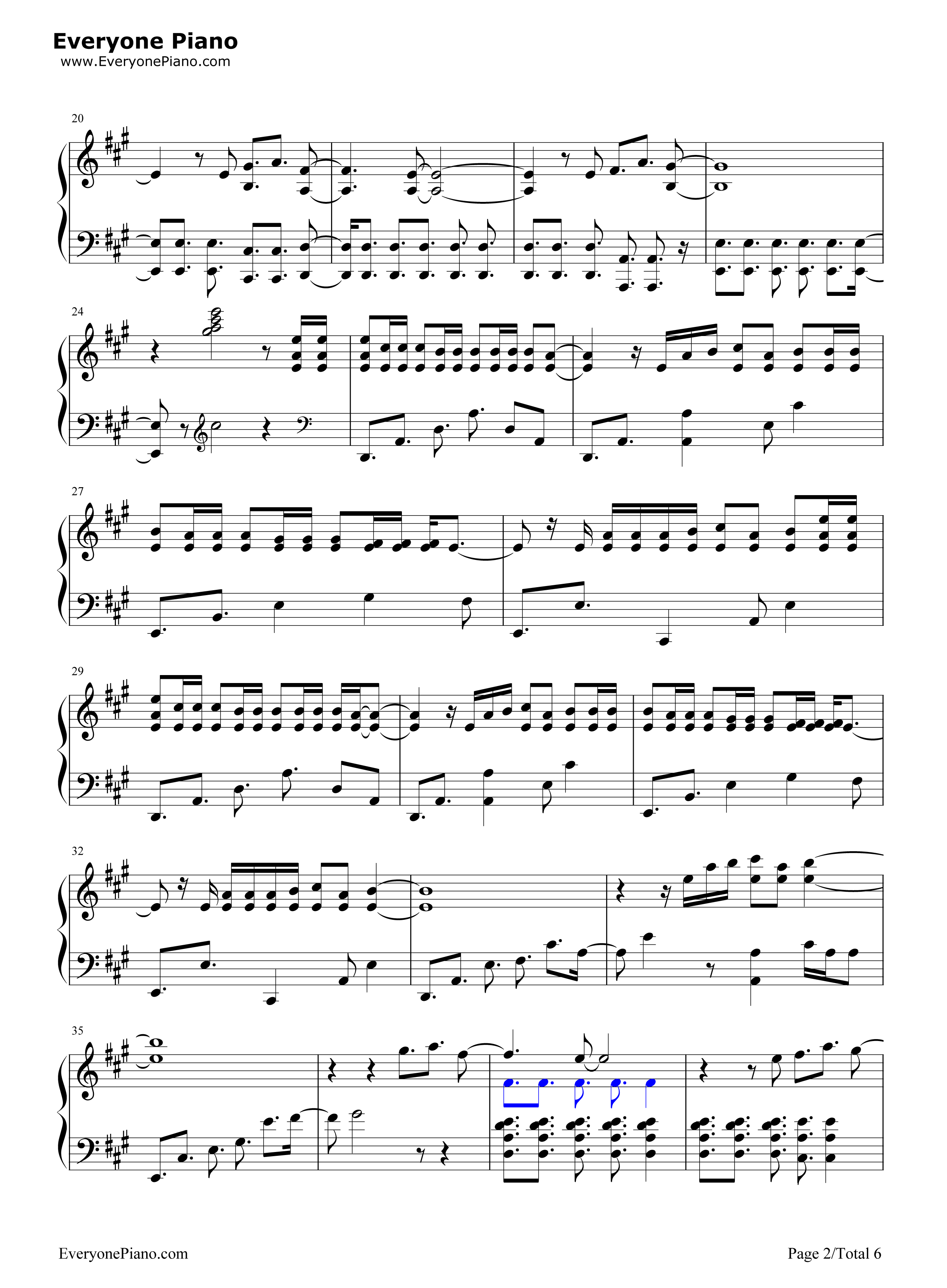 O Fly On Coldplay Sheet Music Magic-Coldplay Stave Preview 2