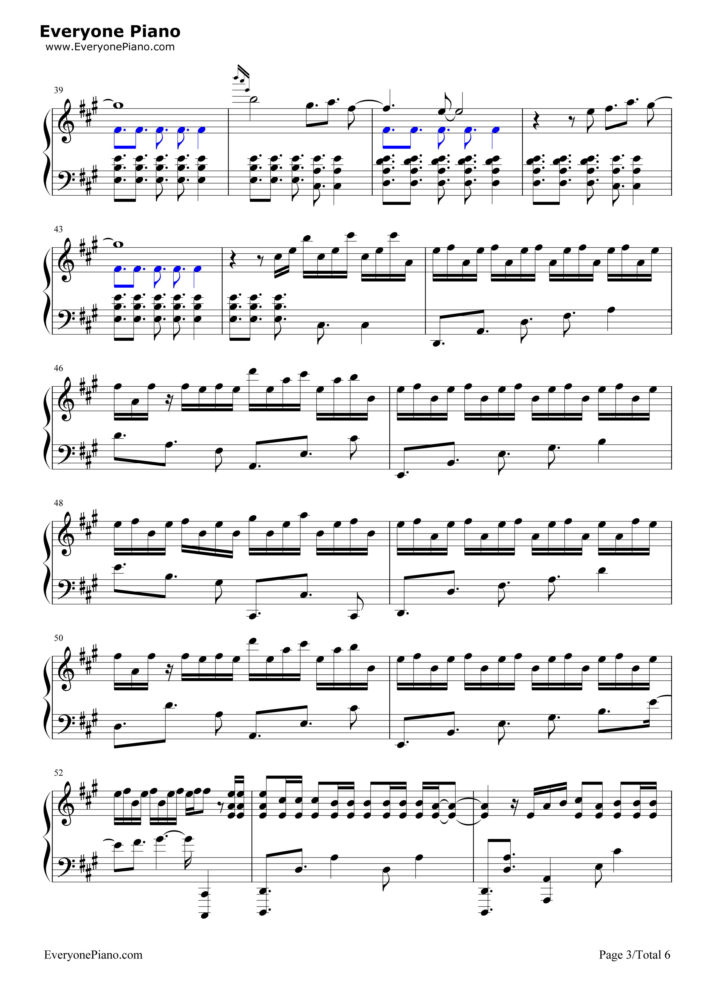 O Fly On Coldplay Sheet Music Magic-Coldplay Stave Preview 3