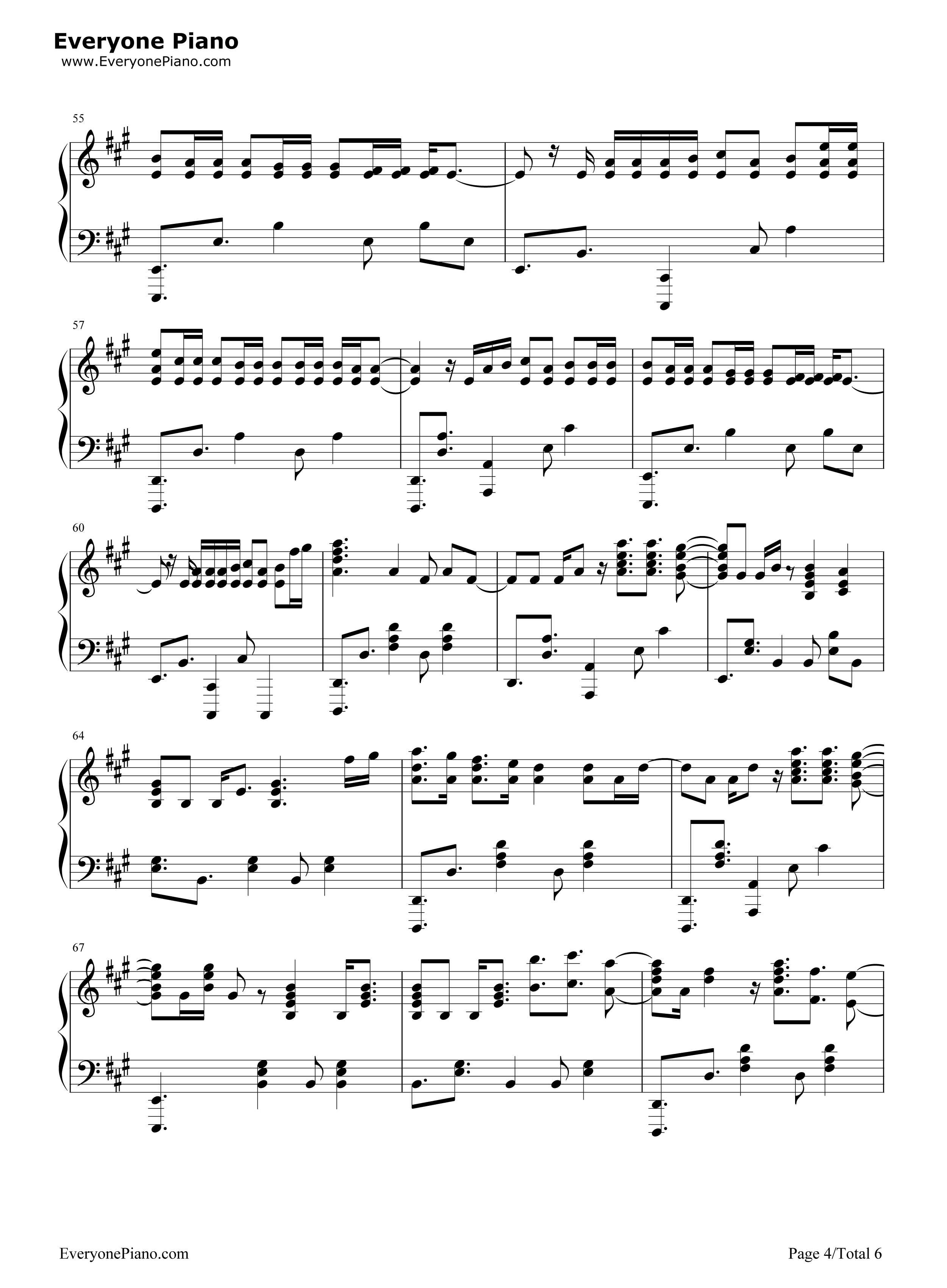 O Fly On Coldplay Sheet Music Magic-Coldplay Stave Preview 4