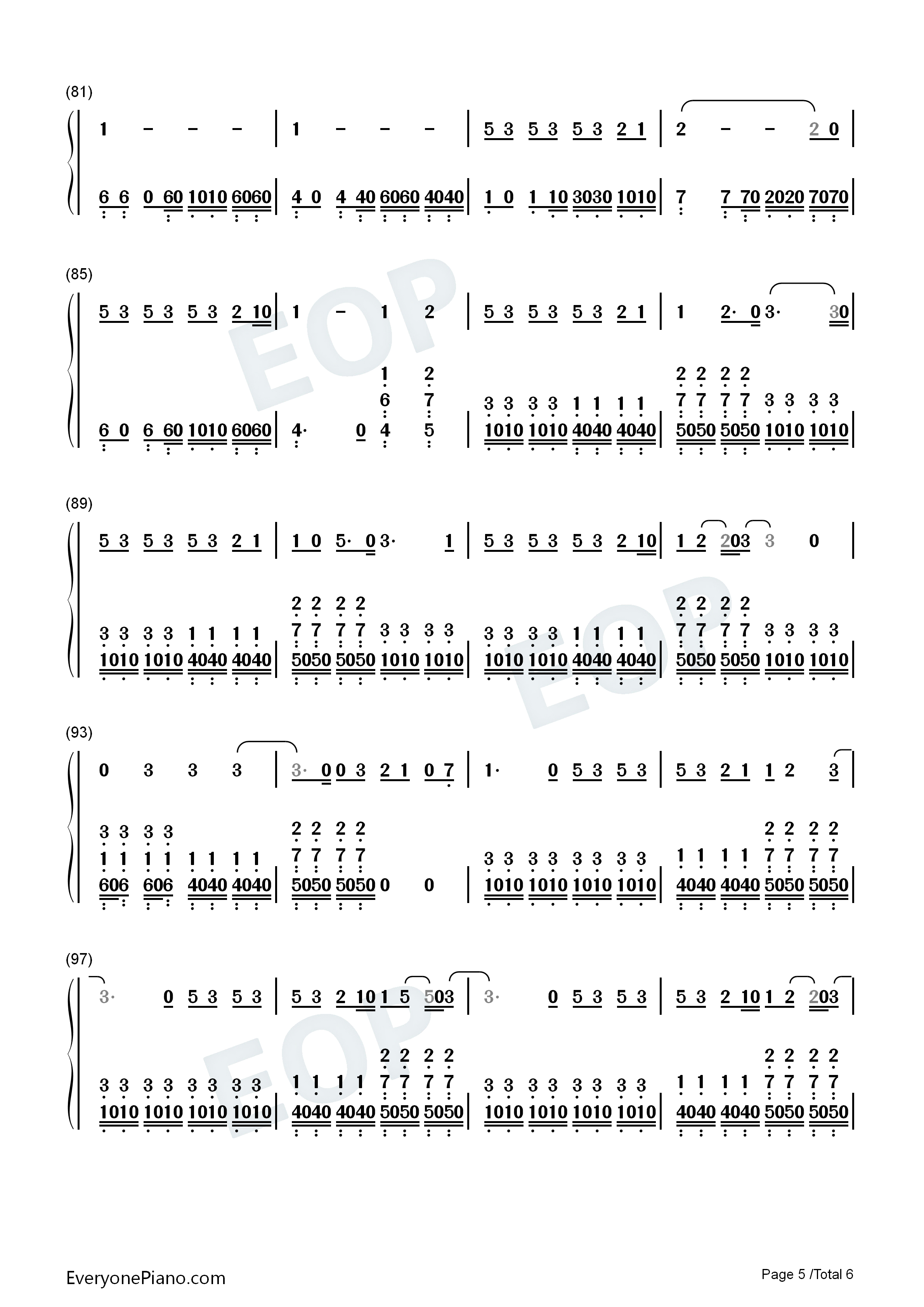 Number chords for