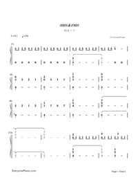 ODDS ENDS-Hatsune Miku-Numbered-Musical-Notation-Preview-1