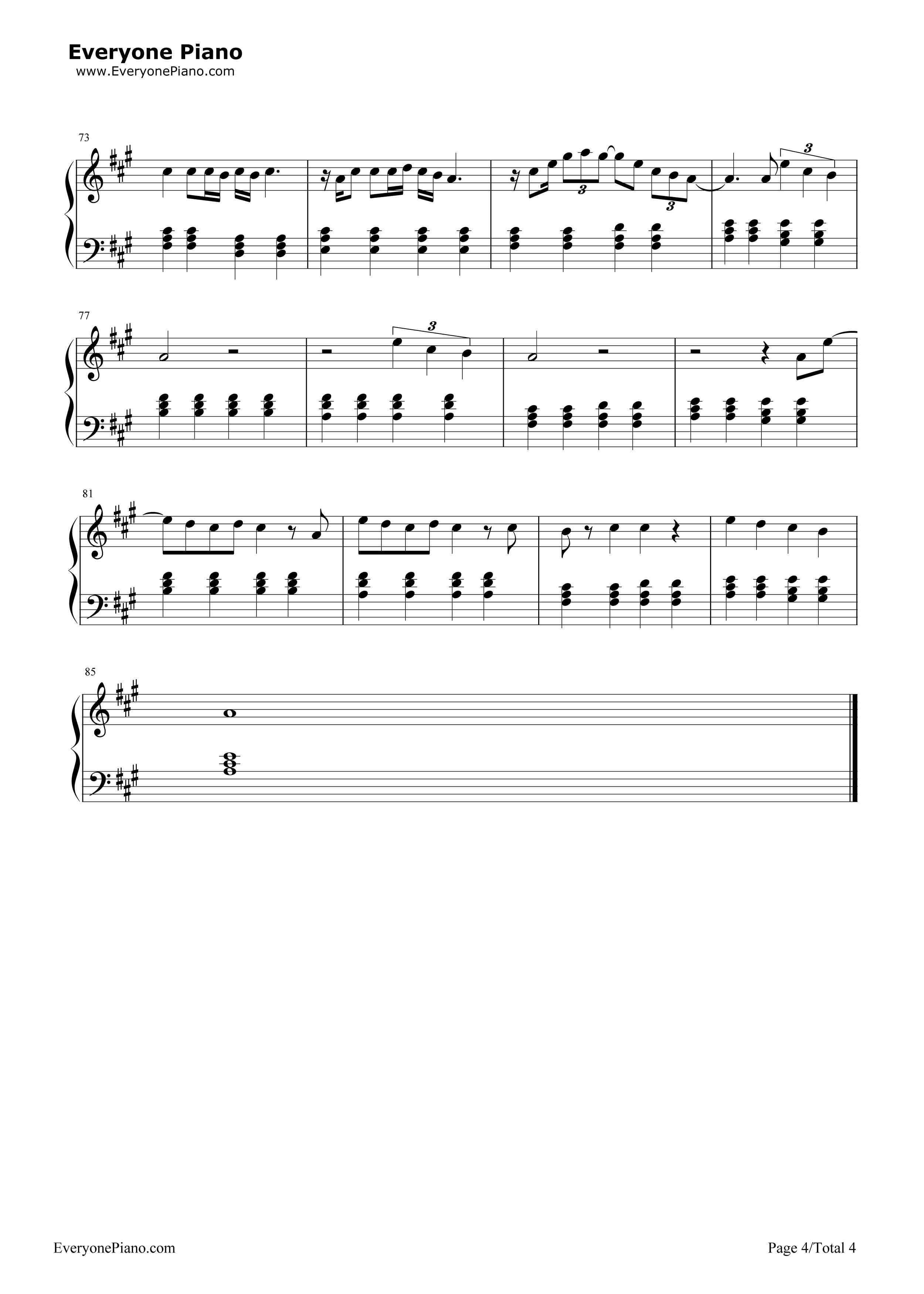 The a team ed sheeran free piano sheet music piano chords the a team ed sheeran stave preview 4 hexwebz Images