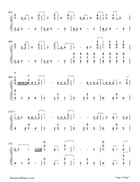 Let It Go Easy Version-Frozen Theme-Numbered-Musical-Notation-Preview-4
