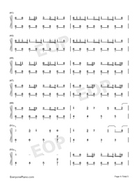 Growl-EXO Numbered Musical Notation Preview 4
