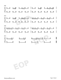 Growl-EXO Numbered Musical Notation Preview 5