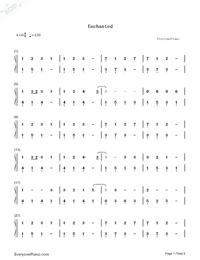 Enchanted Taylor Swift Free Piano Sheet Music Piano Chords