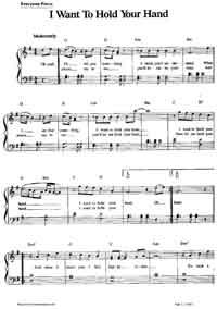 i wanna hold your hand sheet music pdf