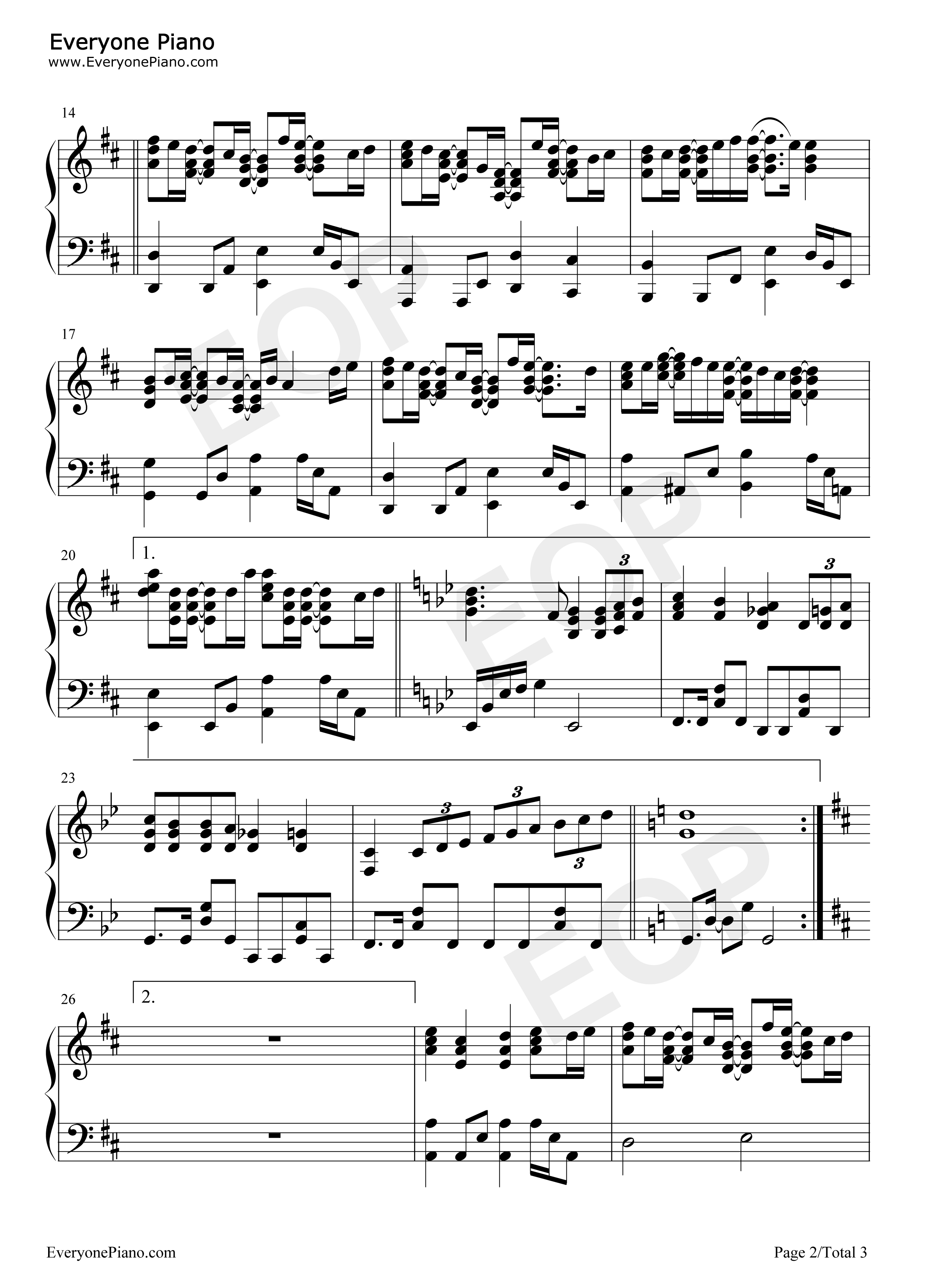 Dreaming dream high ost stave preview 2 free piano sheet music listen now print sheet dreaming dream high ost stave preview 2 hexwebz Image collections