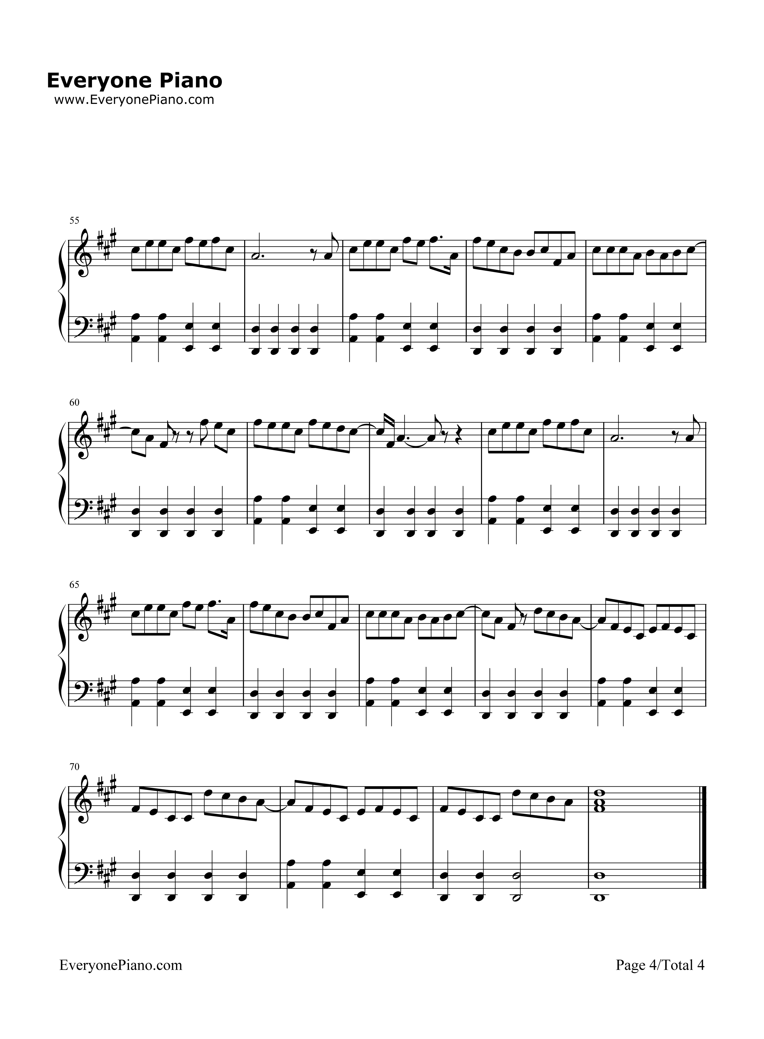 The lazy song bruno mars stave preview 4 free piano sheet music listen now print sheet the lazy song bruno mars stave preview 4 hexwebz Images