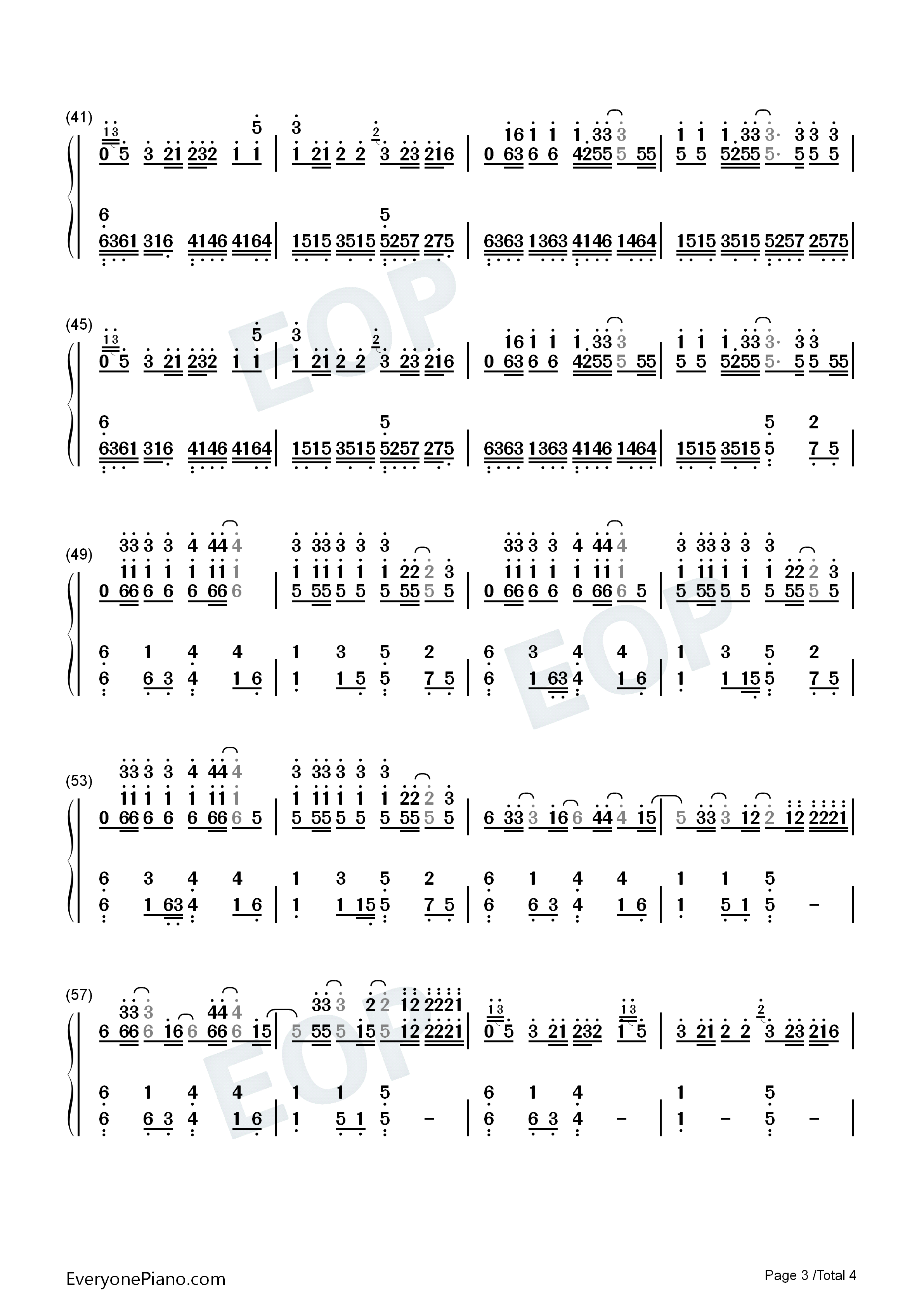 Replay iyaz numbered musical notation preview 3 free piano sheet listen now print sheet replay iyaz numbered musical notation preview 3 hexwebz Image collections