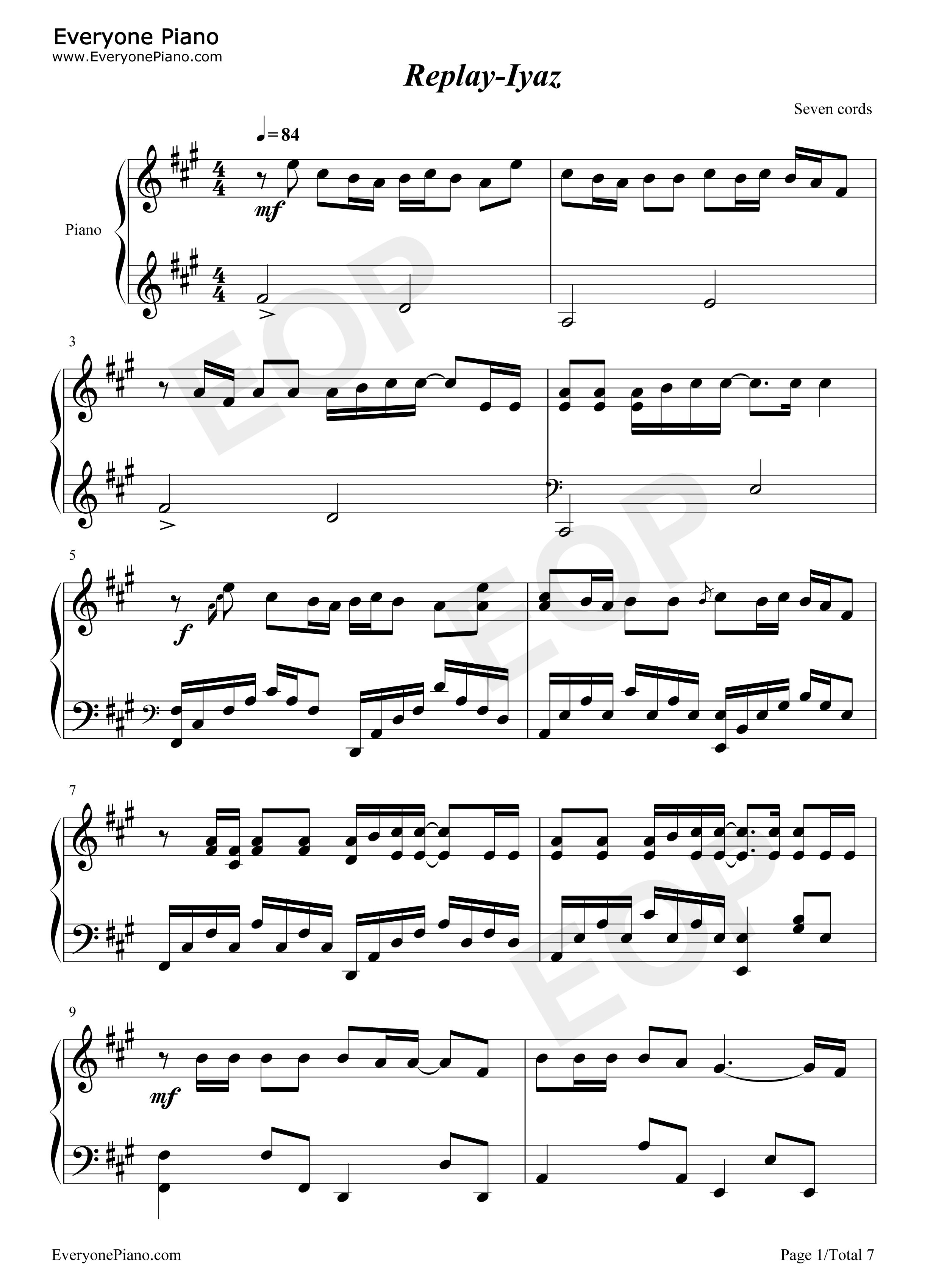 Replay iyaz stave preview 1 free piano sheet music piano chords listen now print sheet replay iyaz stave preview 1 hexwebz Image collections