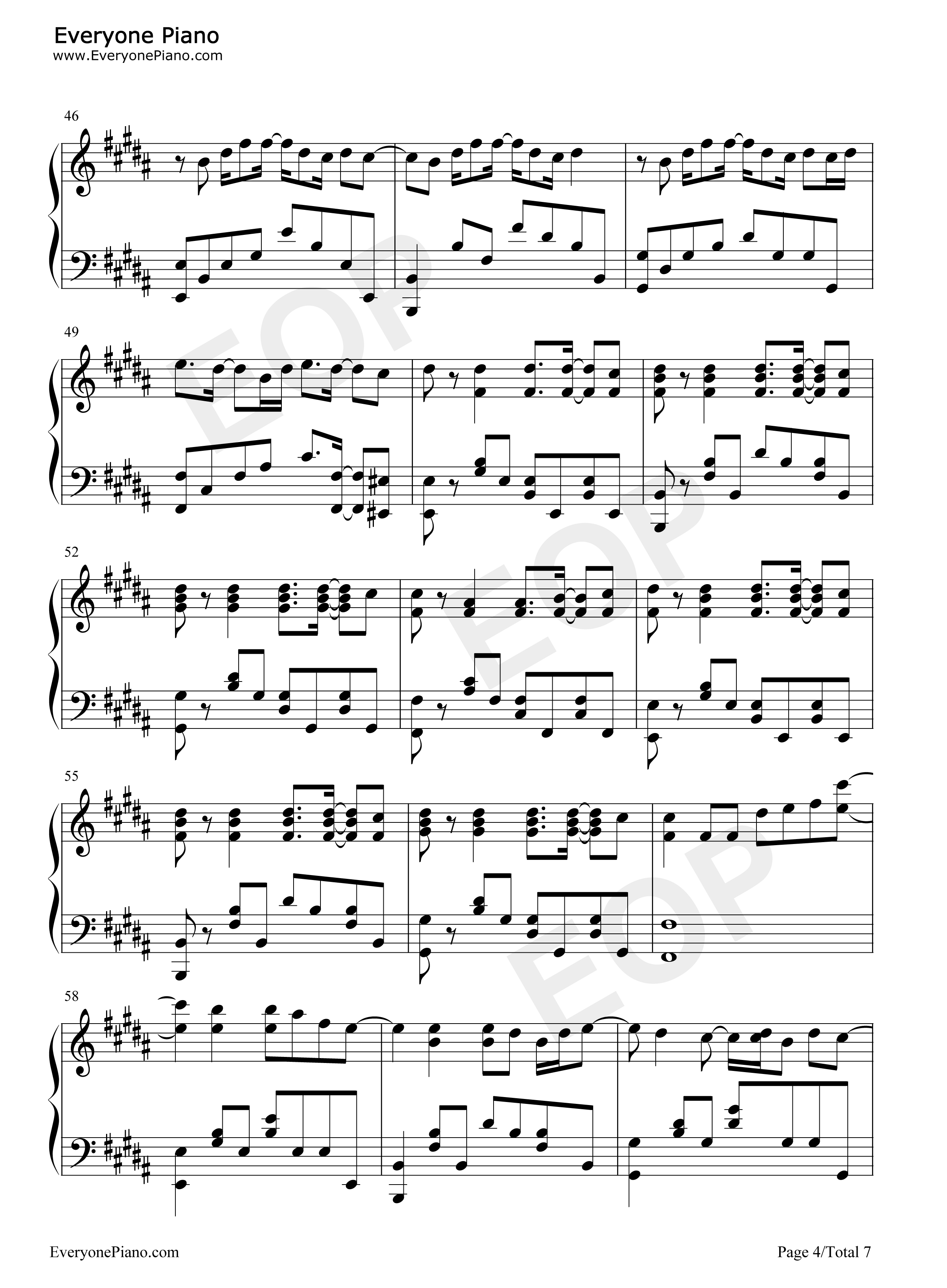 See You Again Wiz Khalifa Piano Sheet Music With Letters