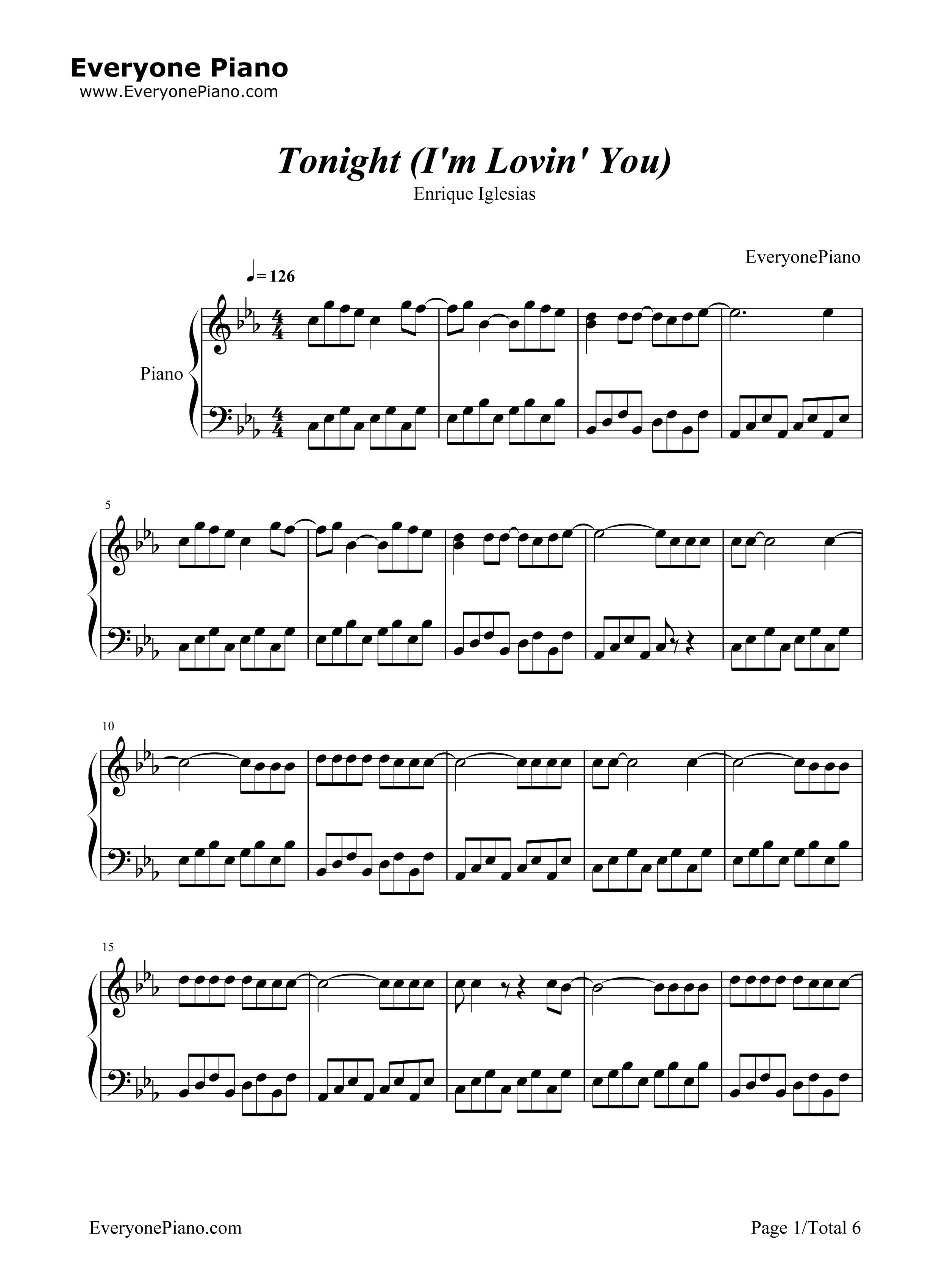 Enrique Iglesias Piano Sheet Music Club Receipts