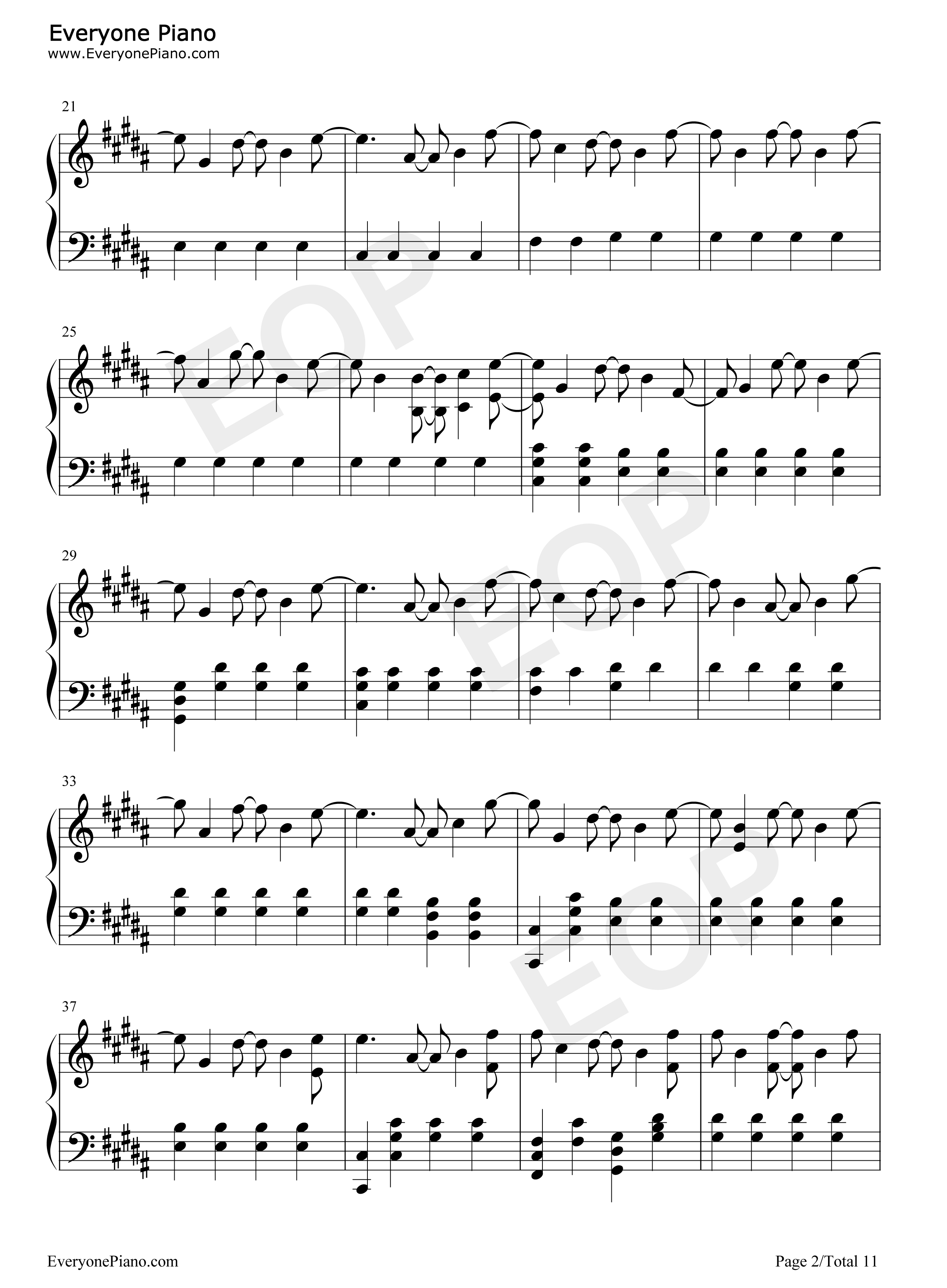 Strobe-Deadmau5 Stave Preview 2-Free Piano Sheet Music u0026 Piano Chords