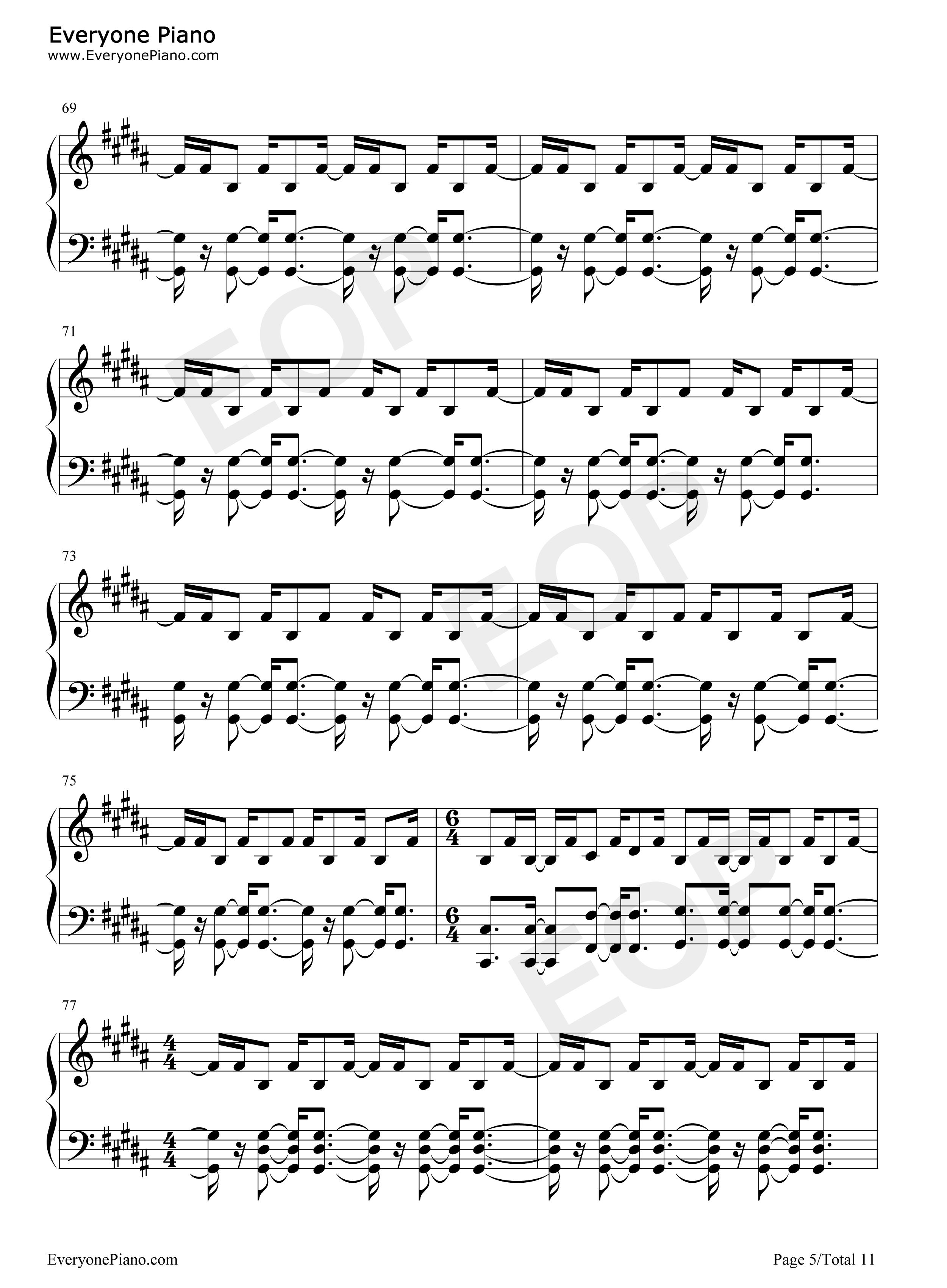 Strobe-Deadmau5 Stave Preview 5-Free Piano Sheet Music u0026 Piano Chords