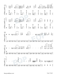 Give Your Heart A Break-Demi Lovato-Numbered-Musical-Notation-Preview-4