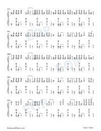 Give Your Heart A Break-Demi Lovato-Numbered-Musical-Notation-Preview-5